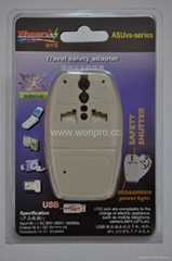 Country Travel Adapter with USB charger(WASDBUvs series)