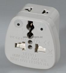 万用安全旅游转换器附有双电压指示与突波吸收器(WASDBvs系列)