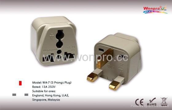 UK, Iraq  Grounded Plug Adapter(WA-7-W) 1