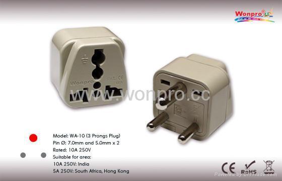 India Plug Adapter Grounded Wa 10 W Wonpro China
