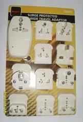全球通旅游转换器组带USB充电(ASTDBU-P10-PP)