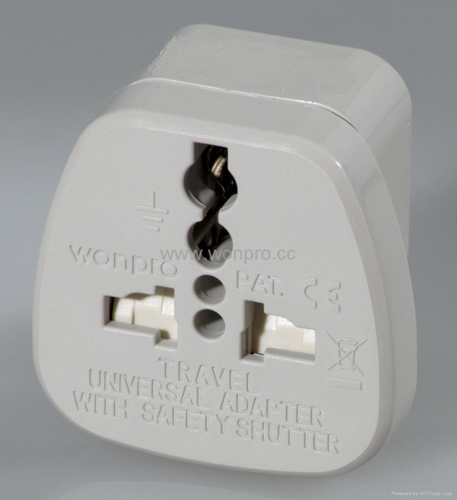 Wonpro Universal Travel Adapter W Safety Shutter Was