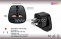 美式万用安全转换器附双电压指示灯与突波保护器(WASvs-5.BK )