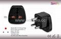 India Plug Adapter (Grounded)(WAS-10.BK)