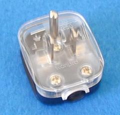 菲律宾、泰国二极带接地自配线插头10A250V(WSP-5)