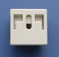 万用多用途插座+独特稳不落的L型安全插座(二极带接地)