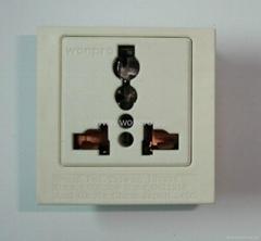 英卡入式工業用一位萬用插座帶鎖線螺絲(BSF-R4T-W 16A)
