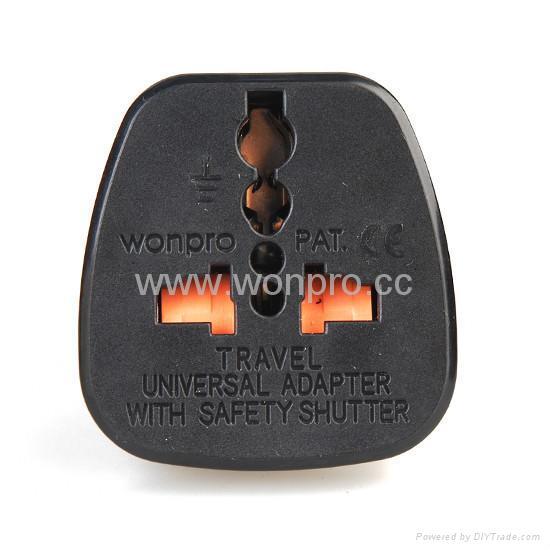 Wonpro universal safety travel adapter black series(WAS-BK series) 1