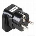 Schuko  Grounded Plug Adapter(WAS-9-BK)