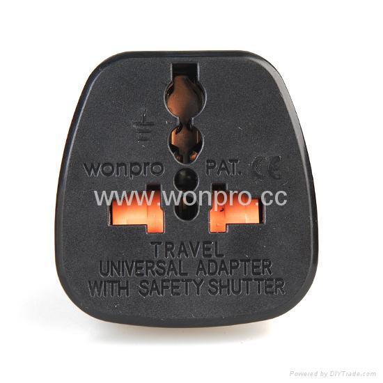 Schuko  Grounded Plug Adapter(WAS-9-BK) 2