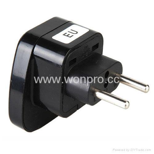 EU (European Union) Plug Adapter (Ungrounded, Inlay)(WAS-9C-BK) 1