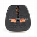 EU (European Union) Plug Adapter (Ungrounded, Inlay)(WAS-9C-BK) 2