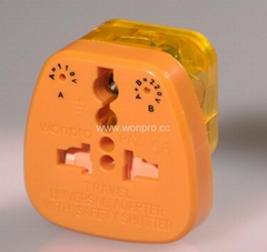 萬用安全旅遊轉換器(附電壓指示與突波吸收器)(WASvs系列)