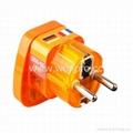 Schuko  Grounded Plug Adapter(WASvs-9.O.YL.YL) 1