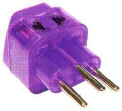 Switzerland Plug Adapter (Grounded)(WADB-11A.P.PL.L) 1