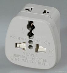 美式万用安全转换器附有2脚插头万用插座(WASDB-5 )