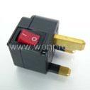 UK, Iraq  Grounded Plug Adapter(WSA-7.BK) 1