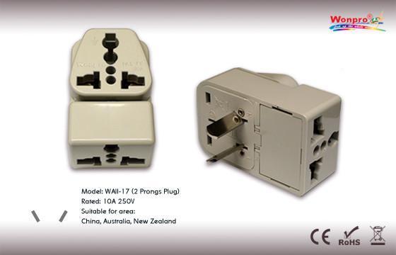 Australia Plug Adapter (Grounded) (WAII-17) 1