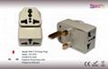 UK, Iraq  Grounded Plug Adapter(WAII-7)