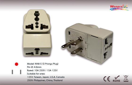 US  Grounded Plug Adapter(WAII-5) 1