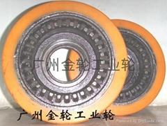 聚氨酯包胶实芯轮胎