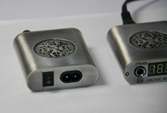 Mini Tattoo Power Supply with LED Screen in Silver