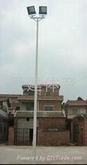 户外球场专用锥形氟碳漆灯柱