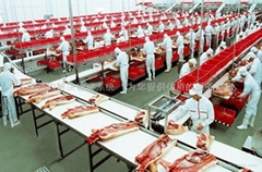 Meats division assembly line