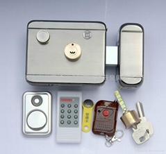 Electric remote lock with clock, 2048 unlocking information, alarm, induction