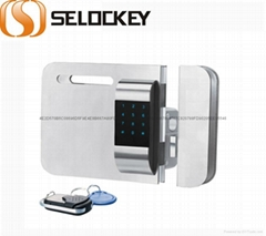 【SELOCKEY】Double system and current giass door lock,wireless lock