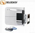 【SELOCKEY】Double system and current giass door lock,wireless lock  3