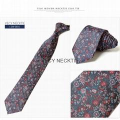 silk woven necktie  silk tie