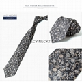 Men's 100%Silk woven Classic floral Ties