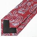 Custom logo design microfiber jacquard mens neckties