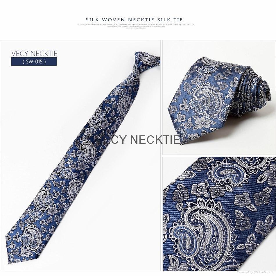 Men's Tie Polyester Necktie Woven JACQUARD Neck Ties