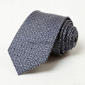men's classic black/white checked jaquard woven fabric silk neckties