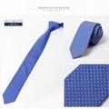 High quality cheap custom cool blue silk necktie with logo ties