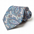Latest design men silk custom italian necktie