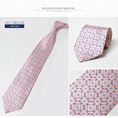 Purchase high quality plaid custom silk screen print necktie