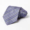 Blue 100% Silk Necktie Custom Tie Woven Printing Logo Necktie