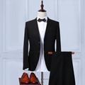 Vintage Formal Business Men's Vest V-neck Cheap Waistcoat