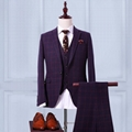 New Men Black Striped Wedding Suits Formal Party Tuxedo Suit