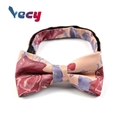 Hot Products Embroidered 100% Silk Bowties for Wedding