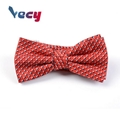 Wholesale Red Dobby Pattern 100% Polyester Bow Tie for Man