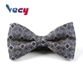 High Quality Embroidered Brown 100% Silk Bow Tie for Men