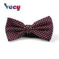 High Quality Red Dobby Pattern 100% Silk Bow Tie for Man