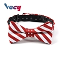 Hot Products Red Striped Printed 100% Silk Bowties for Men kids