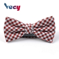 Wholesale Red Checked 100% Cotton Bow Ties for Men Women