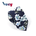 New Products Flower Pattern Print Cotton Neck Ties for Man