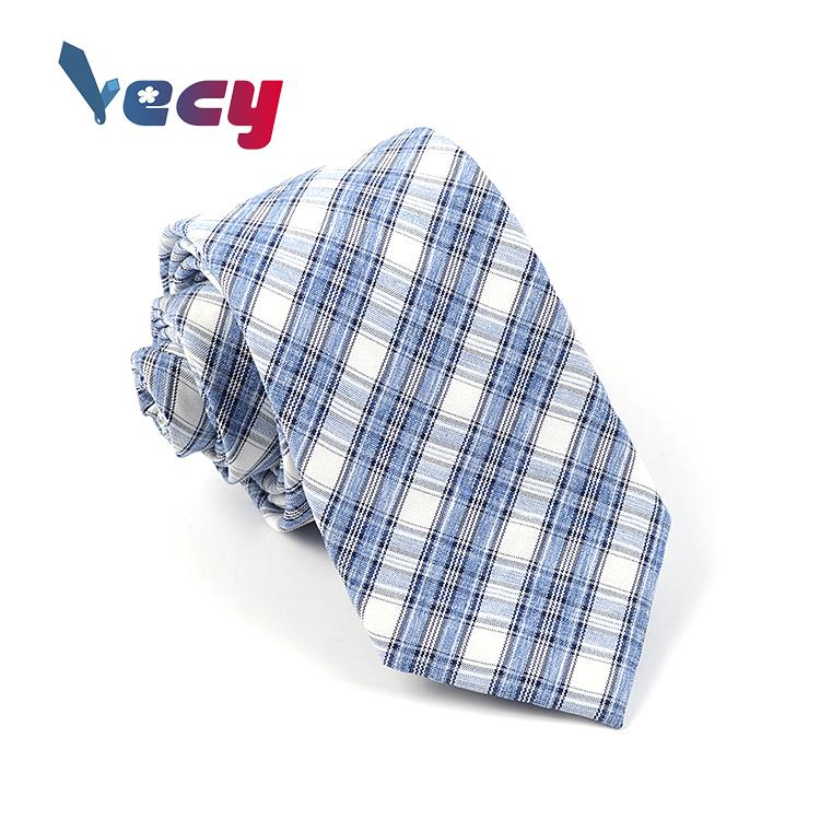 Wholesale Fashion Plaid Printed Cotton Neck ties for man
